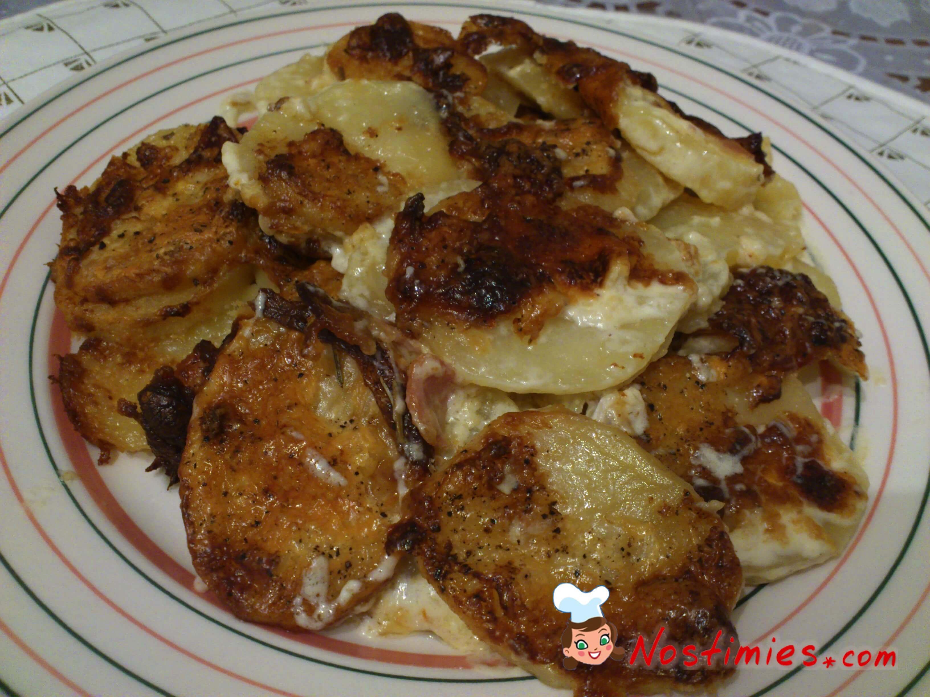 νόστιμες πατάτες στο φούρνο