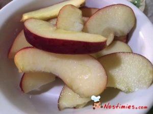 μήλο φέτες